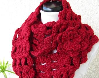 Chunky Crochet Scarf PATTERN-Chunky Infinity Scarf-Fast-Easy Pattern-Christmas DIY Gift-Instant Download PDF Pattern No.71-Lyubava Crochet