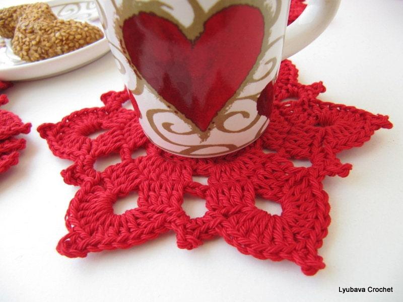 Crochet Xmas Flower Pattern : CROCHET FLOWER PATTERN Christmas Home Decor by LyubavaCrochet