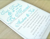 Eat, Drink & (the next day) Be Married Rehearsal DInner Invitation PDF version only