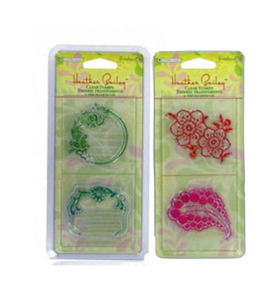 Stamps Acrylic Label Frames Journal Block Flower Paisley Henna