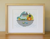 Noah's Ark . Baby Nursery Wall Art . Children Wall Art