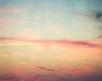 Abstract Sky- 8x10 photograph - Sunset - fine art print - dreamy photography - surreal nursery art