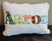 """Personalized Pillow Cover for Toddler, Baby or Teen 12"""" x 16"""""""