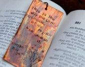 This is the day The Lord has made. Bookmark by Flutter special order
