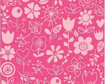 Sunny Happy Skies, Pink  Floral 1 yard cut Riley Blake Designs