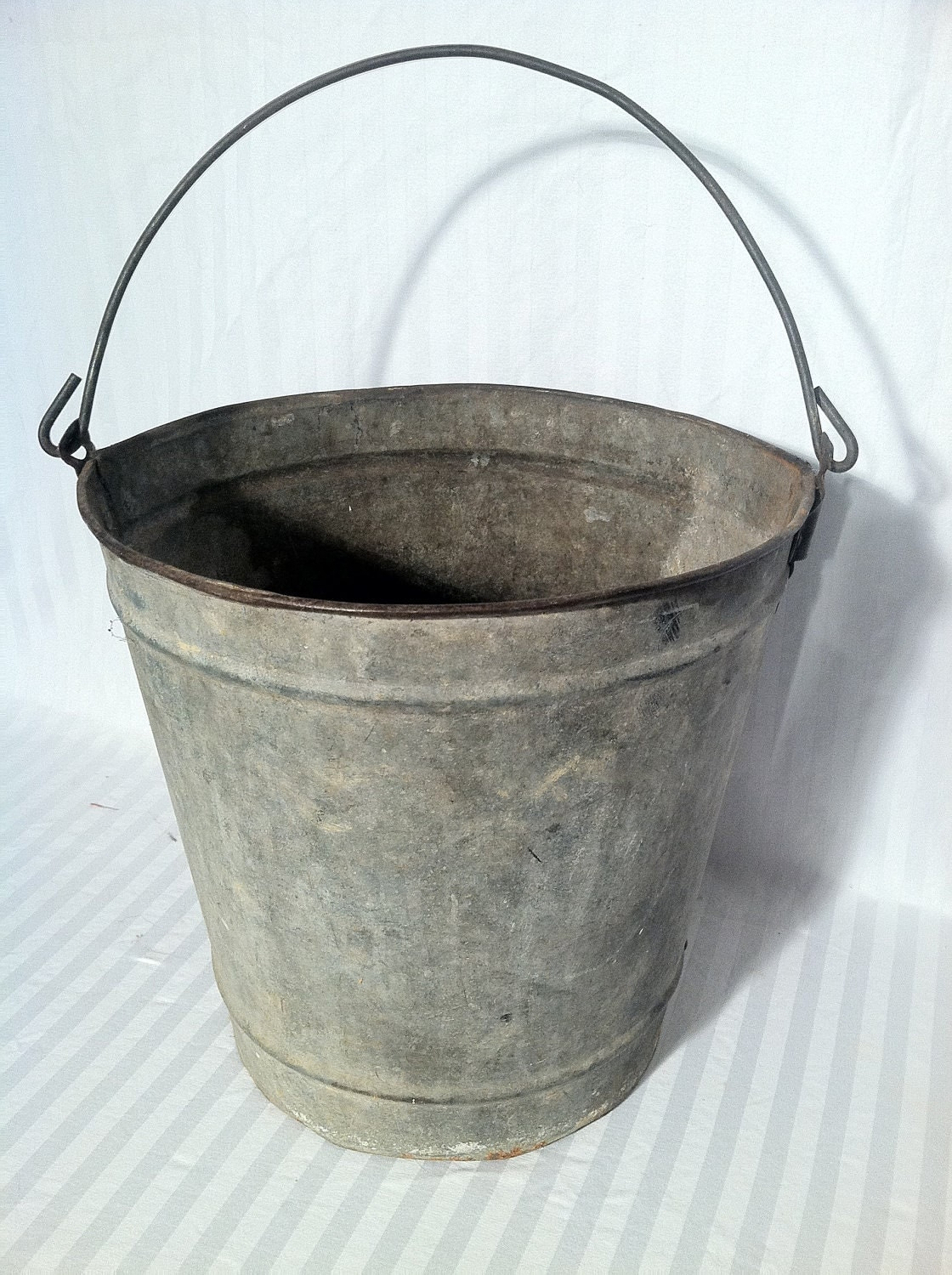 vintage galvanized bucket by zassystreasures on etsy