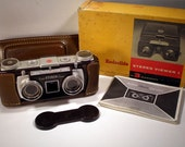 Stereo Camera AND Stereo Viewer. Both by Kodak with Leather case and orginal box