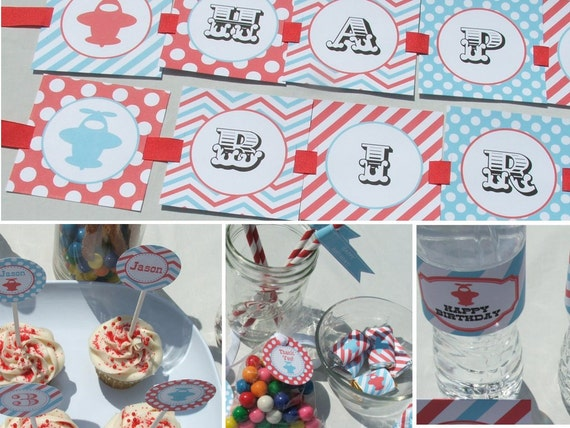 Items similar to airplane birthday decorations package for Airplane party decoration ideas