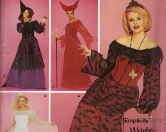 Simplicity Costume Sewing Pattern 0629 or 0654  - Misses' or Girls' Devil, Angel, and Witch Costumes