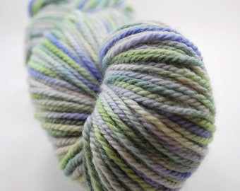 Stipple dyed Canadian BFL - Lilacs Blooming