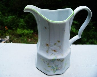 ON SALE Vintage 1981-82 Mikasa Younger Than Springtime L9411 China Creamer Pitcher