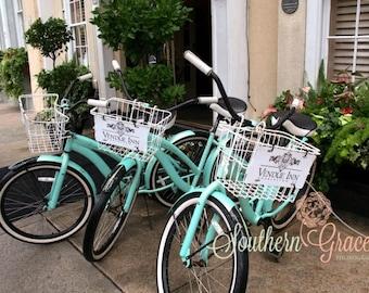Charleston Bicycles 8x10, Vendue Inn, Romantic Charleston