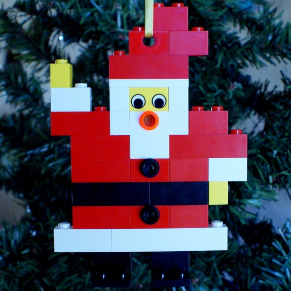 LEGO Flat Santa Christmas Ornament