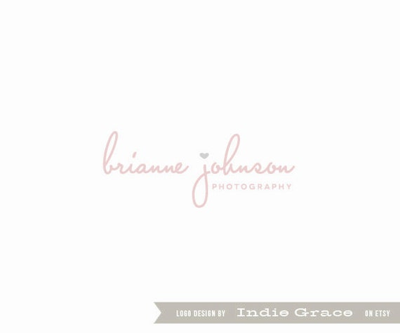 Custom PreDesigned / pre-made logo little heart for photography logo or etsy shop logo