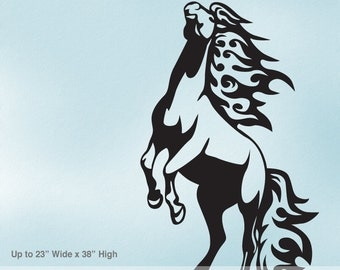 Horse Decal | Horse Decor | Wild Mustang | Horse Wall Decal | Wild Horse | Cowboy Decor | Western Decor | Vinyl Wall Decal
