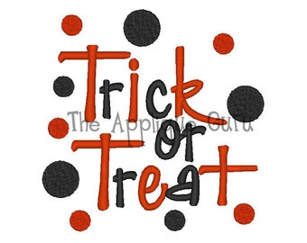 Trick or Treat -- Machine Embroidery Design
