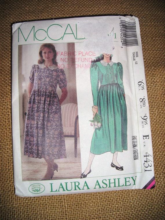 Supplies..Laura Ashley Dress Pattern... Laura Ashley Lifestyle  Dress ...Size 12..Victorian Style.. Demure Dress