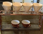 Industrial Steampunk Coffee Pour Over Drip Station / Stand