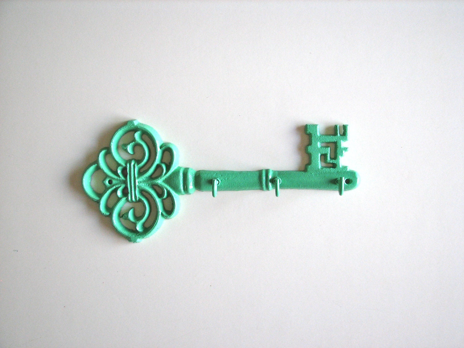 Fancy Key Key Rack Holder In Pistachio Green
