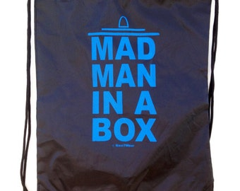 11th Doctor Drawstring Backpack: Man Man In a Box Black