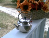 Aluminum Teapot, marked Japan, Cottage Chic, Childrens Toy, Vintage Collectible