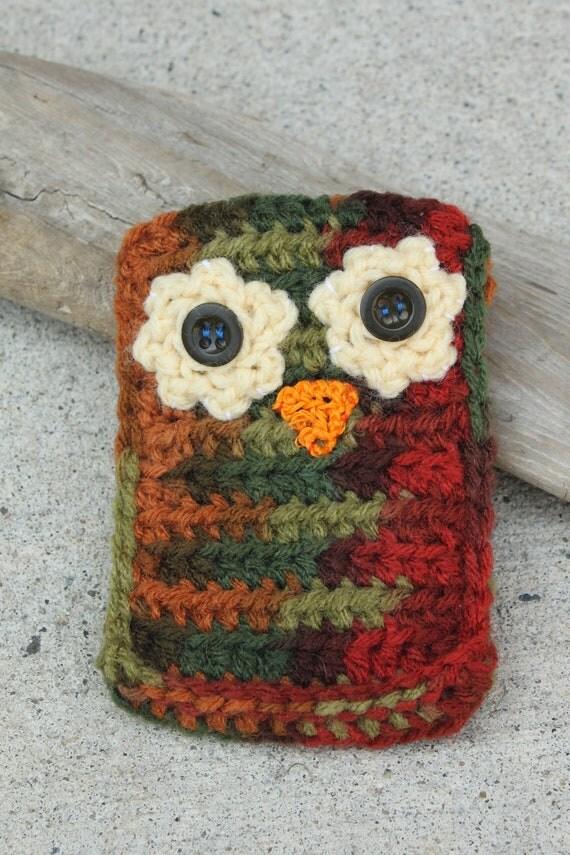Crochet Owl Cell Phone Case