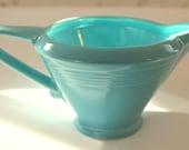 Vintage Harlequin Turquoise Creamer...Homer Laughlin China Co...Made in USA...Art Deco...Aqua