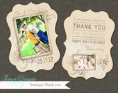 Luxe Wedding Thank You Card Template - Item TC016