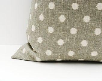 Ikat Pillow cover. Euro Pillow. Decorative Throw Pillows. Grey Ikat pillow cover. ONE 24x24 Euro Sized Pillow Cover
