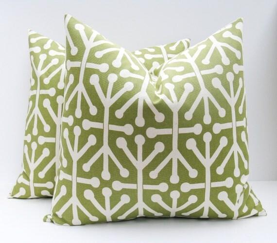 Items similar to Decorative Throw Pillows Green Pillow Cover Olive green Pillow 18x18 pillow ...