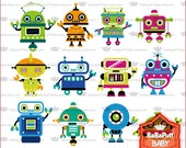 Buy 2 Get 2 Free ---- Digital Robot Set 1 ---- Personal and Small Commercial Use ---- BB 0299