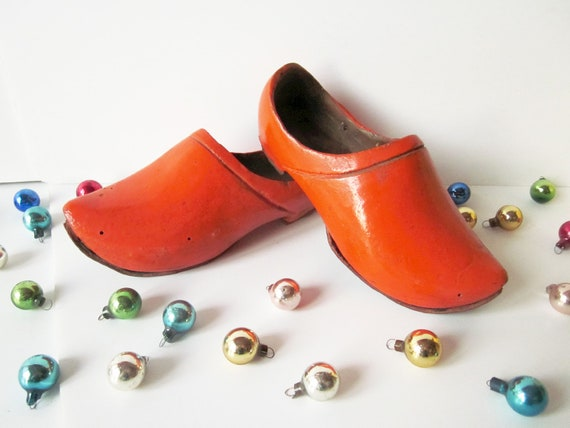 Vintage french litlle clogs child wooden shoes by littlecups