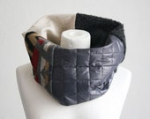 The Upcycled Loop N 1 - Scarf Loop Chunky Knitted Cosy Winter Warm Long Scarf Cable Pattern Infinity