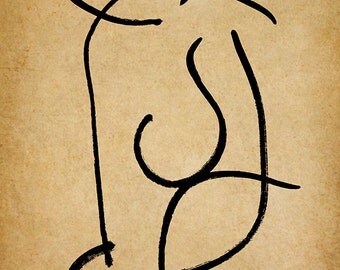 Turn, A Gestural Drawing.