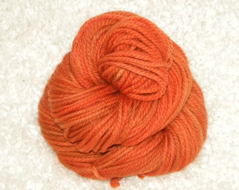 Hand Dyed yarn, Bulky Weight, 100% Superwash Merino Wool, 120 yards/100g- 'Campfire'