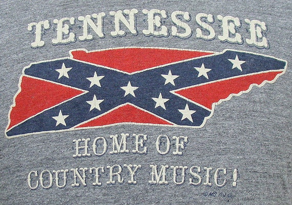 Vintage 80's Tennessee Home of Country Music ringer t shirt L