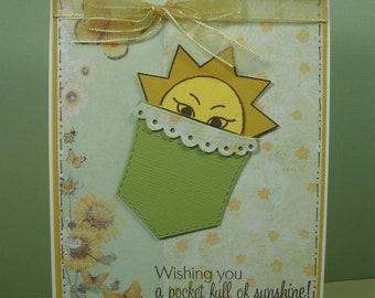 Sunshine Pocket Birthday Card