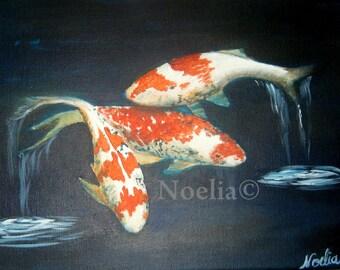 KOI FISH print only