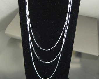 "20"" Sterling Silver Beaded Chain"