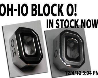 Items similar to OH-IO OSU Block O Bead or Pendant Fits ...