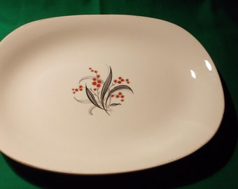 One (1) Porcelain Oval Platter from, Wedgwood & Co. In the WW 4 Pattern