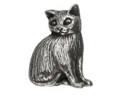 Danforth Toby Cat 7/8 inch ( 21 mm ) Pewter Shank Button