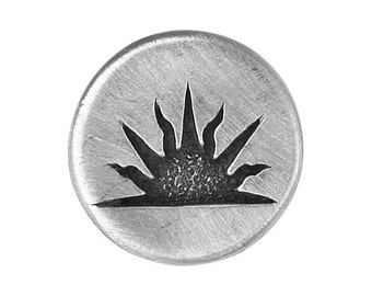 2 Sunrise 7/8 inch ( 23 mm ) Pewter Buttons