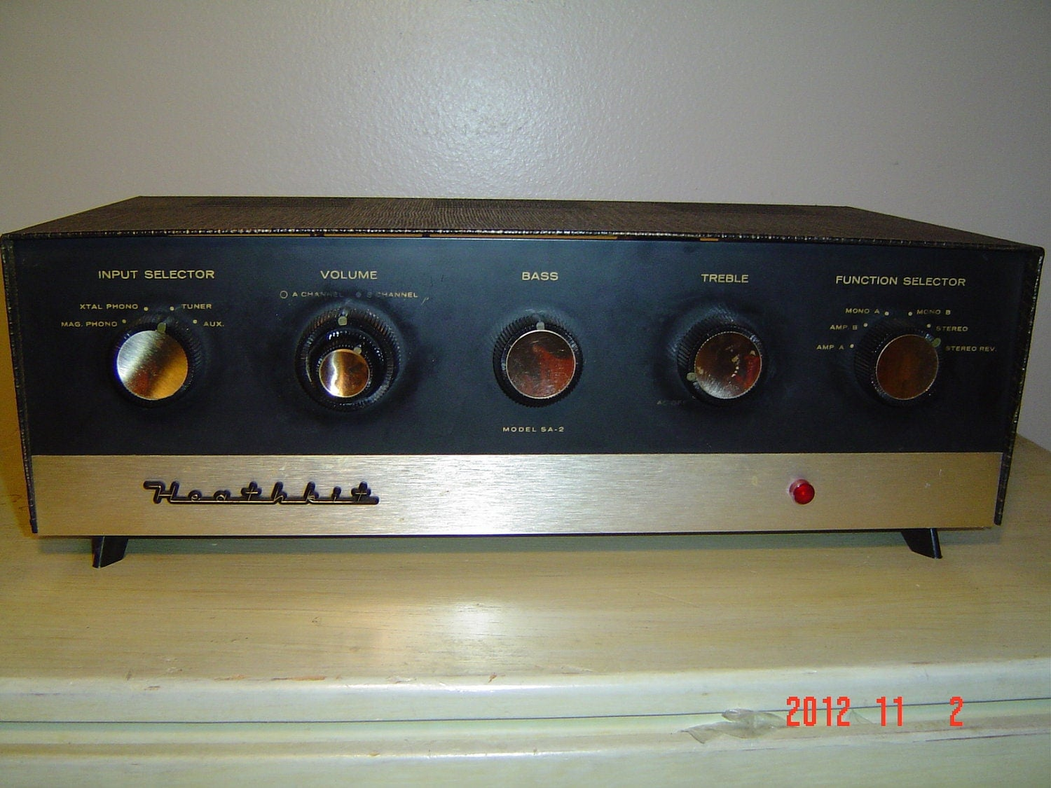 Vintage Heathkit Sa 2 Vacuum Tube Preamp Amplifier