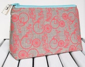 Bicycle print make up bag