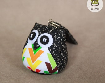 Speedy - Cute Owl Doll with a Bag: plush, owl decor, arrow, black, little, mini, kid, owl decoration, kawaii, animal, bird