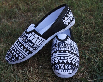Custom Hand Painted Tribal Shoes