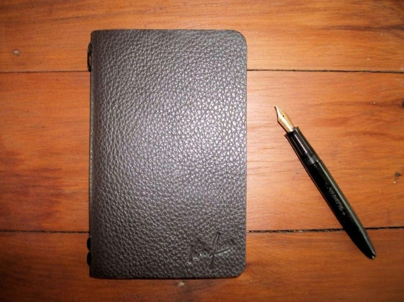 Waxed Leather Moleskine Cahier Cover