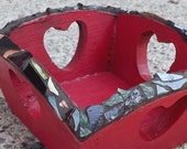 Mosaic square heart box