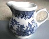 Blue Willow Creamer - Made in England - Staffordshire England